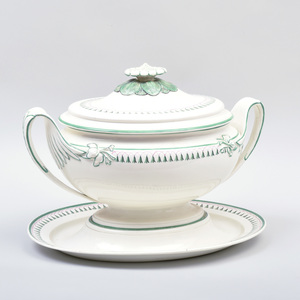 Wedgwood Creamware Soup Tureen, Cover and Stand