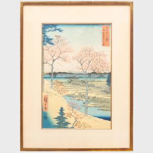 Utagawa Hiroshige (1796-1858): Fuji from Meguro Yuhigaoka