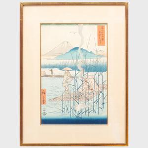 Utagawa Hiroshige (1796-1858): Sagami River (Sagamigawa)