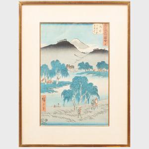 Utagawa Hiroshige (1796-1858): Goyu on the Tokaido