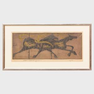 Tadashi Nakayama (1927-2014): Horses Galloping
