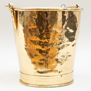 Anglo-Indian Brass Bucket