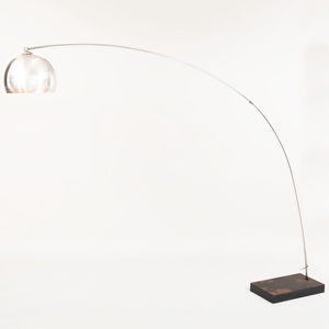 Modern Chrome Arc Floor Lamp