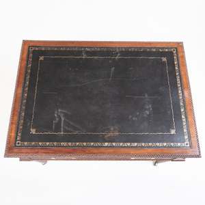 Unusual Early Victorian Carved Mahogany Metamorphic Writing Table