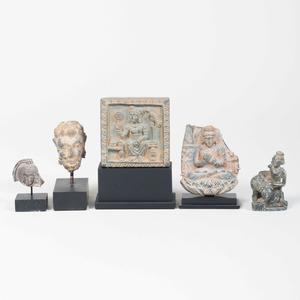 Group of  Miniature Indian Schist Figures