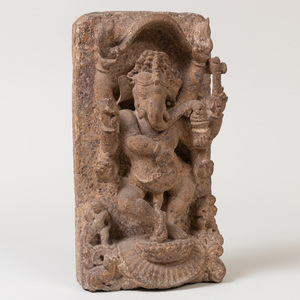 Indian Carved Stone Figure of Ganesh