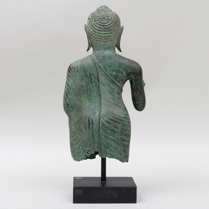 Bronze Sculpture of a Standing Figure, Probably Thai