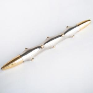 Schlumberger 18k Gold and Silver Pen