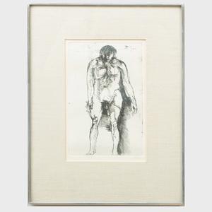 Leonard Baskin (1922-2000): Standing Figure