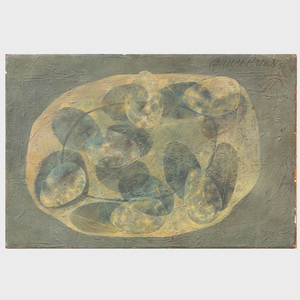 Carlyle Brown (1919-1964): Composition with Eggs