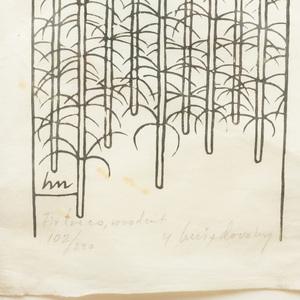 Jacques Hnizdovsky (1915-1985): Fir Trees