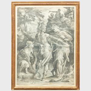 Jan Müller (1571-1628), After Bartholomaeus Spranger (1546-1611): Minerva and Mercury Arming Perseus