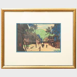 Kiyoshi Saito (1907-1997): Mountain Village; and Village in Snow