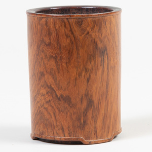 Chinese Huanghuali Cylindrical Brushpot