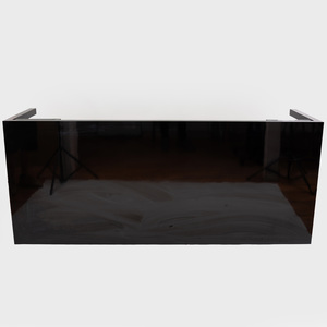 Modern Black Lacquer Dining Table