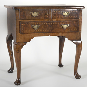 George II Inlaid Walnut Lowboy