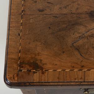 George II Inlaid Walnut Lowboy