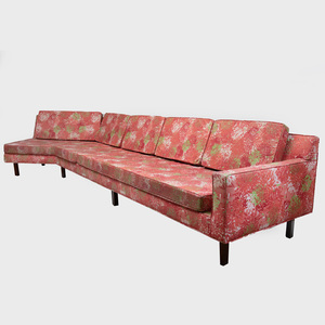 Harvey Probber Sofa with 'Chrysanthemum' Fabric by Tillet