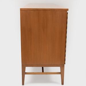 Paul McCobb Calvin Group Tri Fold Bleached Mahogany Eight Drawer Dresser