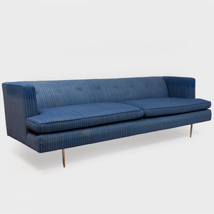 MN Originals in the Manner of Dunbar Gondola Style Sofa with Brass Legs