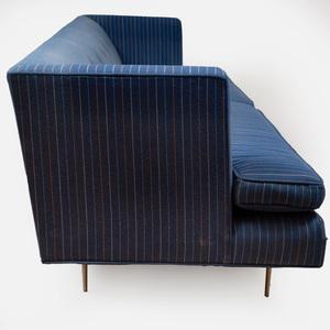 MN Originals in the Manner of Dunbar Gondola Style Sofa with Brass Legs