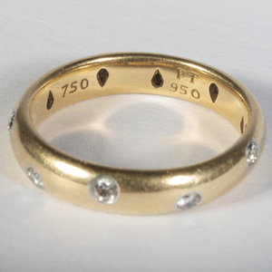 Tiffany & Co. 18k Gold and Diamond Wedding Band