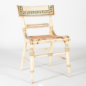 Federal Painted and Caned Fancy Chair, Baltimore