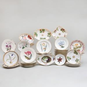 Assembled Derby Porcelain Botanical Part Service