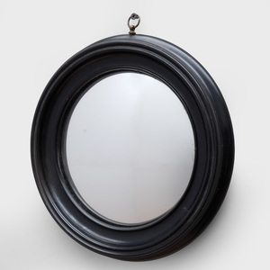Group of Eight English Convex and Cut Glass Mirrors