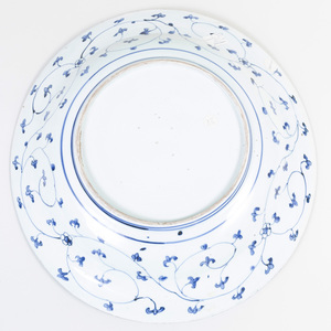 Japanese Arita Blue and White Porcelain Charger