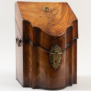 Regency Brass-Mounted Mahogany Knife Box