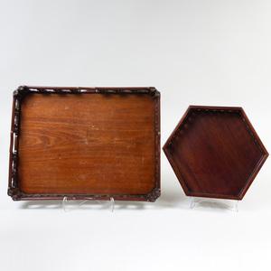 Chinese Hardwood Rectangular Tray