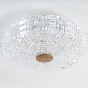 Orrefors Glass Flush Mount Ceiling Light