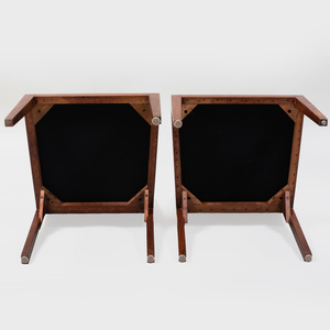 Set of Seven Walnut Dining Chairs, Possibly  Philip Johnson