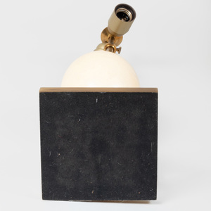 Lucite and Brass-Mounted Ostrich Egg Lamp