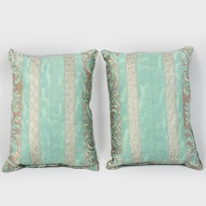 Pair of Aqua Green Fortuny Pillows