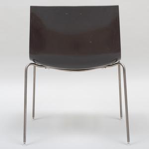Set of Four Arper Fiberglass and Chrome 'Catifa' Chairs