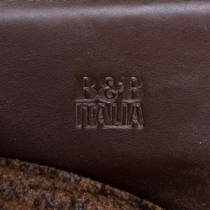B&B Italia Leather Chrome and Velvet 'Diesis' Three Seat Sofa