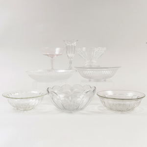 Group of Colorless Glassware