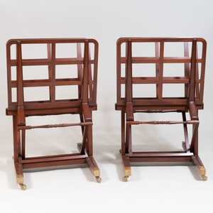 Two Victorian Style Brass-Mounted Mahogany Stands, of Recent Manufacture
