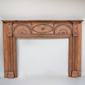 Federal Fan Carved Pine Mantel, New York