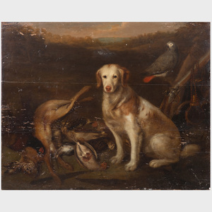 English School: Dog with Game