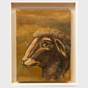 European School:  Head of a Sheep