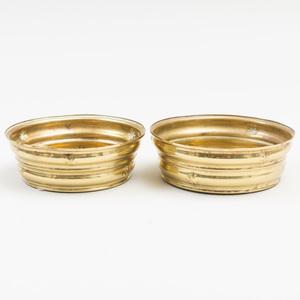 Two of Small Wiener Werkstätte Brass Dishes