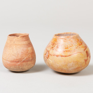 Two Limestone Jars, Possibly Middle Eastern