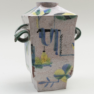 Hilda Jesser Glazed Earthenware Vase, for the Wiener Werkstätte