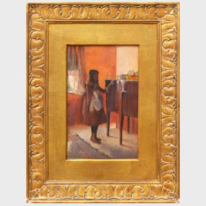 Alice De Wolf Kellogg (1862-1900): Girl at a Sideboard
