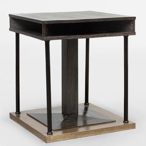 Josef Hoffmann Planished Brass-Mounted Limed Oak Office Table