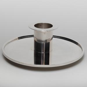 Art Deco Wiwen Nilsson Swedish Silver Candlestick