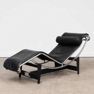 Le Corbusier Chrome and Leather 'LC4' Lounge Chair, for Cassina